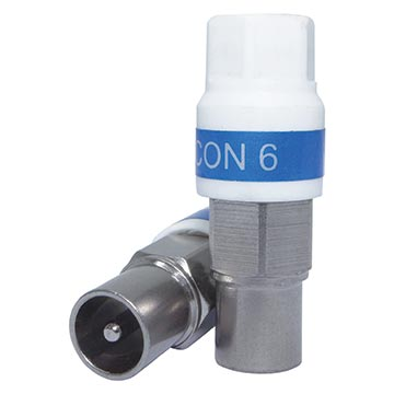 08MM-SI-IEC6Q - Connector RG6 IEC Male Self Install (50 Pack)