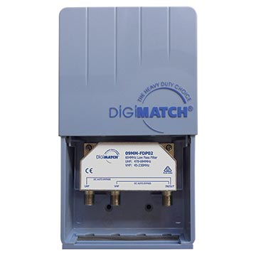 09MM-FDP02 - Diplexer VHF (CH 0-12) UHF (CH 28-51) 694MHz Low Pass Filter