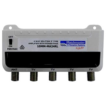 10MM-MA24RL - Amplifier 4 Way - 4G LTE Filter