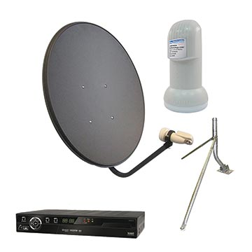 13MM-80LNBVASTM-KIT - 80cm Vast Satellite Kit Including Dish, LNB, Mount And Vast STB