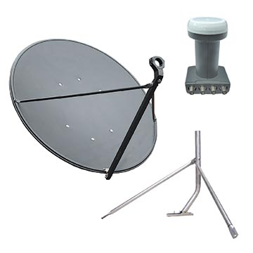13MM-90CMKIT-TIN - 90cm Dish, Quad LNB And Tin Roof Mount