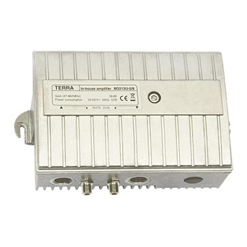 14MM-BD213U-5/8 - Amplifier, Forward Gain 39dB 47-862MHz, Passive Return Path, Remote Line Powered 24-65V ~ 50Hz 12W