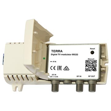 14MM-MI520 - Terra Transport stream over IP to DVB-T Modulator with two x DVB-T output