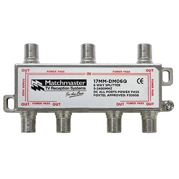 17MM-DM06Q - 6 Way Splitter