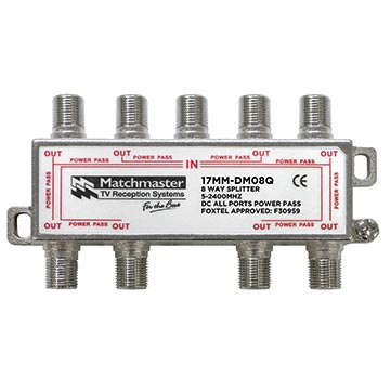 17MM-DM08Q - 8 Way Splitter