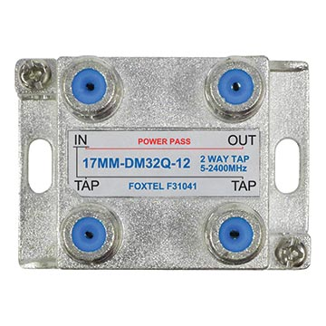 17MM-DM32Q-12 - 2 Way 12dB High Isolation Tap for MATV, TDT and SAT