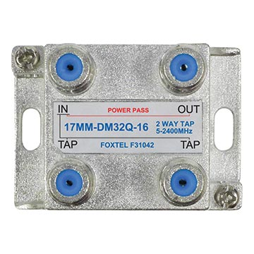 17MM-DM32Q-16 - 2 Way 16dB High Isolation Tap for MATV, TDT and SAT