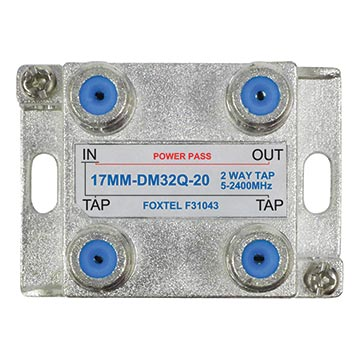 17MM-DM32Q-20 - 2 Way 20dB High Isolation Tap for MATV, TDT and SAT