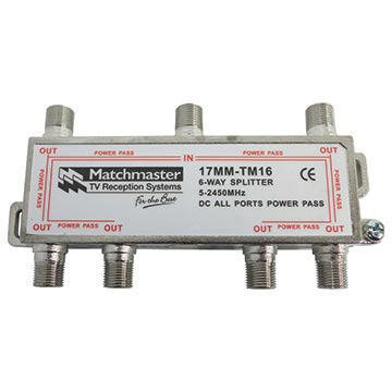 17MM-TM16 - 6 Way Splitter