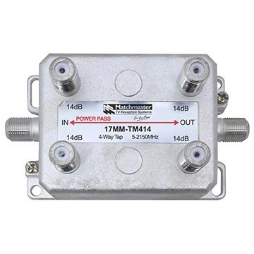 17MM-TM414 - 4 Way Vertical Tap 14dB