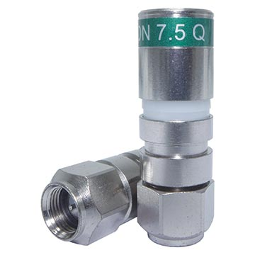 18MM-CX311Q - Connector Compression RG11 Quadshield