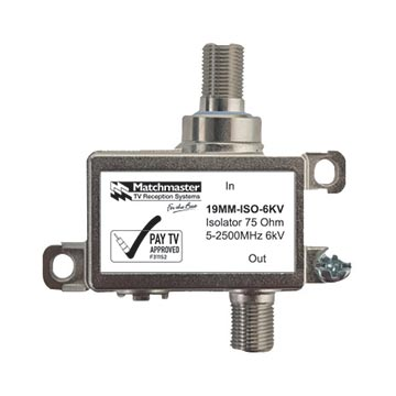 19MM-ISO-6KV - Isolator 75 Ohm 5-2500MHz 6kV