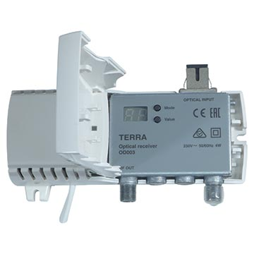 20MM-OD003 - Terra Fibre Receiver 80dBμV output with SC/APC connectors 47-1002MHz