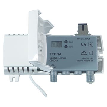 20MM-OD004 - Terra Fibre Receiver 80dBμV output with SC/APC connectors 47-2400MHz
