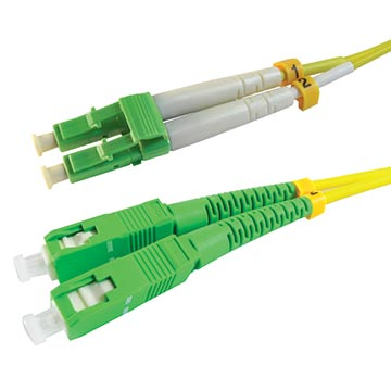 20MM-PS2DLCASCA-2 - LC Angled To SC Angled OS2 Patch Cord Duplex - 2m