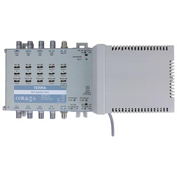 21MM-SA51 - 5 Wire Amplifier 4 Satellite 1 Terrestrial Mains Powered