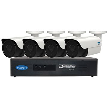 50MM-LN8CH2TB4B - LAN (POE) CCTV Security Kit 2TB Storage with 4x 4MP Bullet Cameras