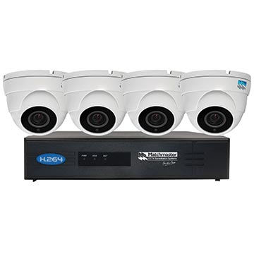 50MM-LN8CH2TB4D - LAN (POE) CCTV Security Kit 2TB Storage with 4x 4/5MP Dome Cameras