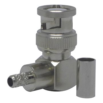56MM-BNC58L - BNC Right Angled Crimp Plug For RG58 and LL195 Type Cables