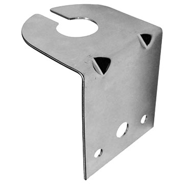 """56MM-LBV-LW - """"L"""" Shaped Antenna Mounting Bracket for Vehicle Bonnet/Boot Installations - Light Weight"""