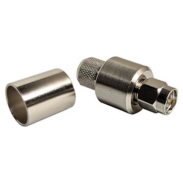 56MM-SMA400SF - SMA Crimp Plug for - LL-LMR400 and RG213 50Ω cable - Spring Finger